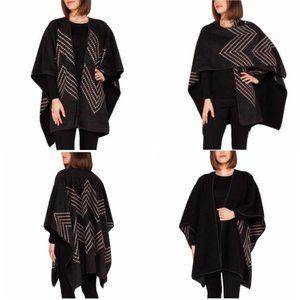 Ike Behar Reversible Wrap/Poncho One Size